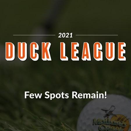 2021 Duck League Registration at Mallard Creek