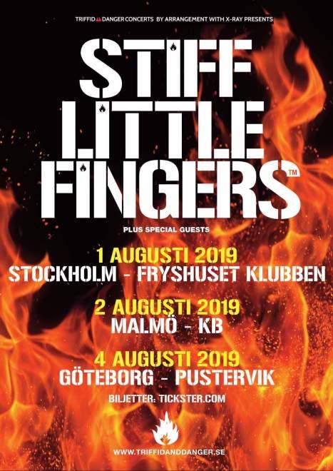 Legendariska punkbandet Stiff Little Fingers till Sverige i Augusti.