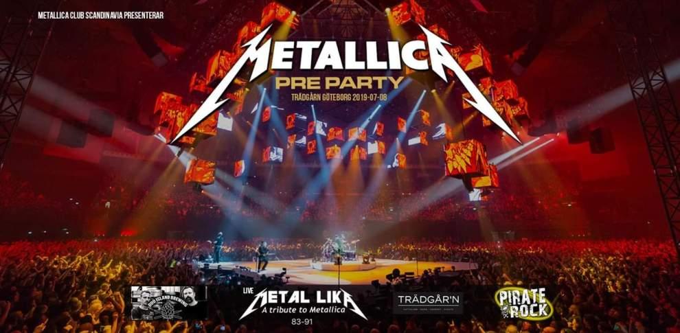 Metallica Pre Party Ullevi tillsammans med Pirate Rock!