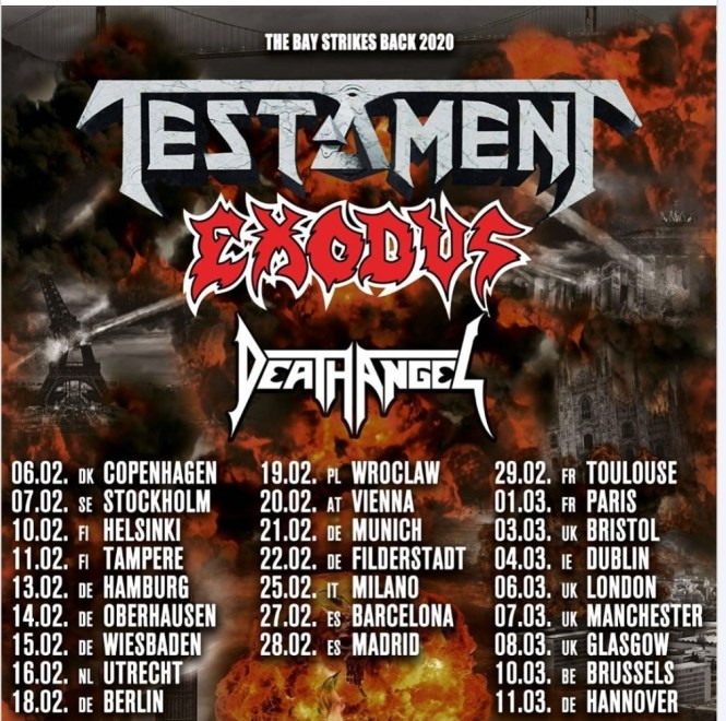 Get Ready For 'The Bay Strikes Back' Tour Featuring Testament, Exodus & Death Angel » Metal Wani