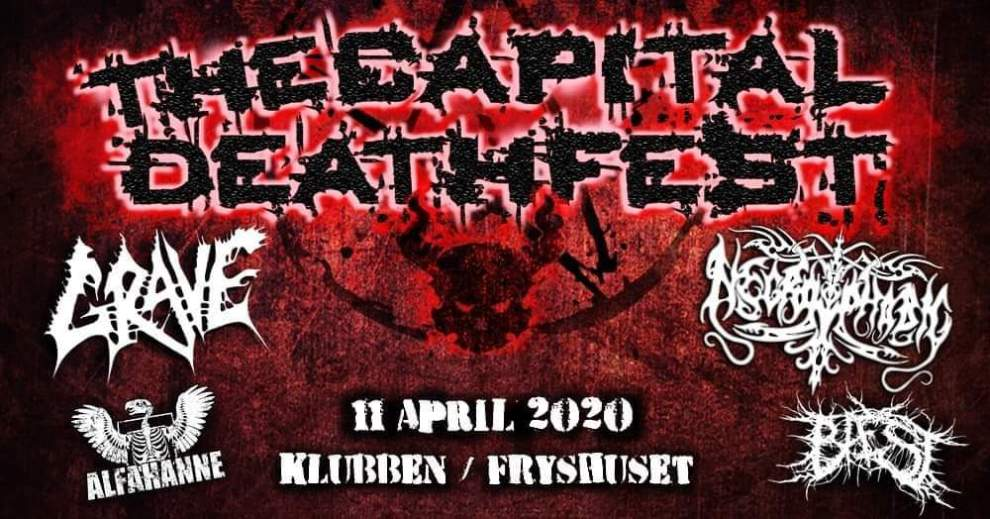 Ny festival i Stockholm! The Capital DeathFest 2020!