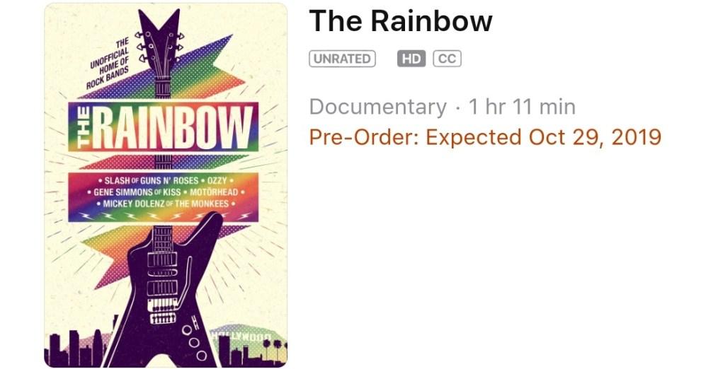 """Ny dokumentär: """"The History of Rainbow Bar and Grill."""" Premiär 29 Oktober på iTunes."""
