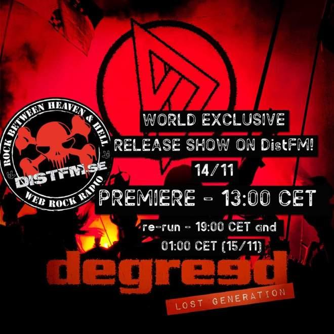 Exklusiv förhandslyssning av Degreed:s nya album på DistFM!