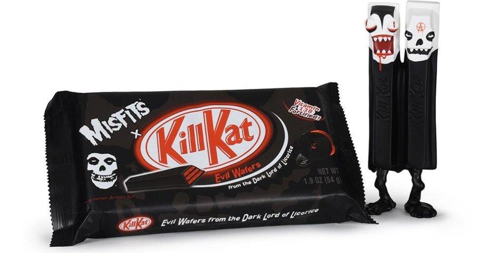 "Misfits lanserar ""Evil Kill (Kitt) Kat"" chokladkex i 666 exemplar."