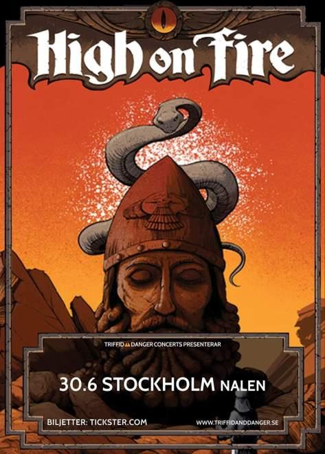 High On Fire kommer till Stockholm!