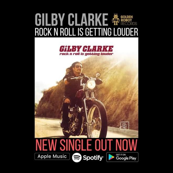 """Ny Singel: Gilby Clarke – """"Rock n' Roll Is Getting Louder""""."""