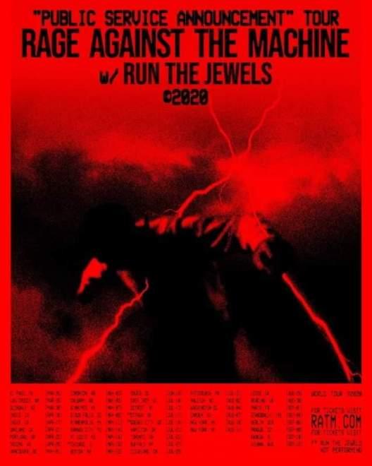 Ännu inga Sverige datum på Rage Against The Machine kommande världsturné.