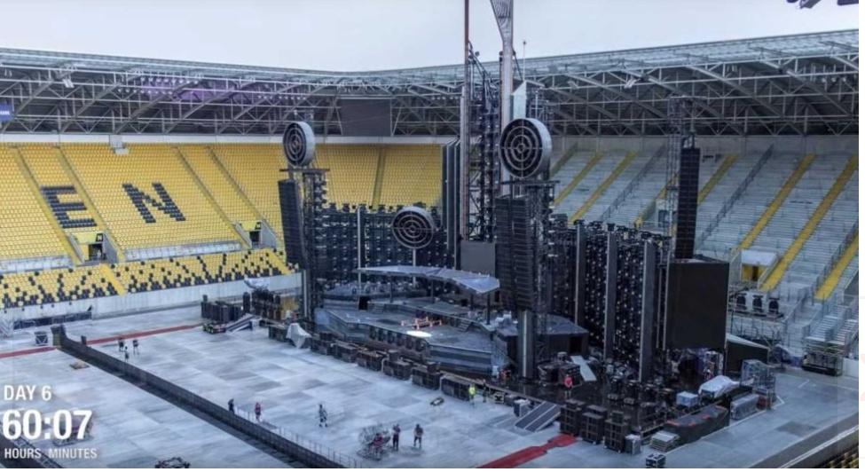 Ny Video: Så byggs Rammsteins jättelika scen.