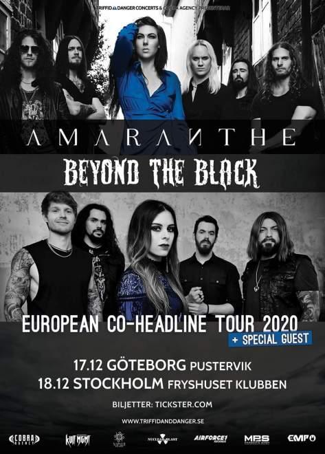 Amaranthe och Beyond The Black gör gemensam Europa turné!