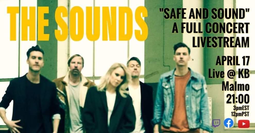 The Sounds streamar live från KB i Malmö nästa fredag!