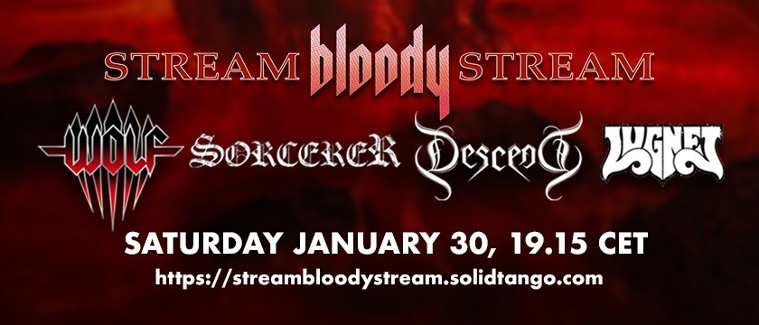 Stockholm's Metal Alliance – Wolf, Sorcerer, Descend and Lugnet – announce their joint 'Stream Bloody Stream' Live Event