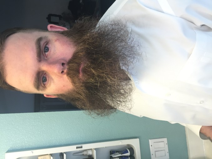 jimmy unattended beard prior to BMF oil