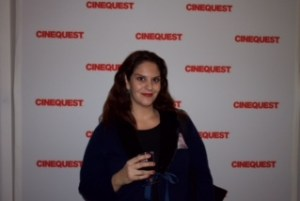 the mama in black at Cinequest Launch Party