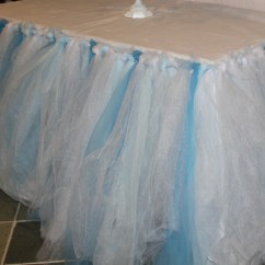 Kitchen With Pantry Cabinet Backsplash For Ideas No-sew Tulle Table Skirt – The Mamanista