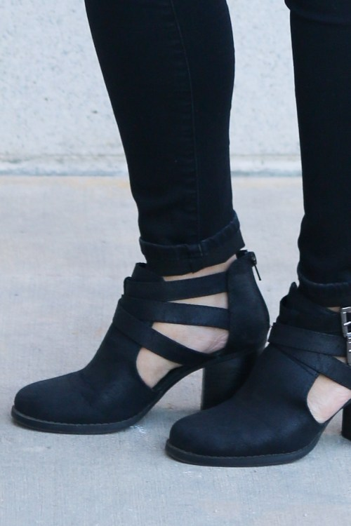 Cut Out Booties for $30