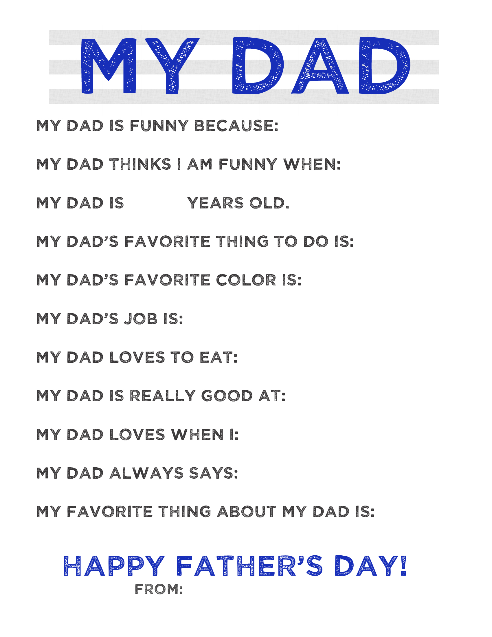 Free Father S Day Printable