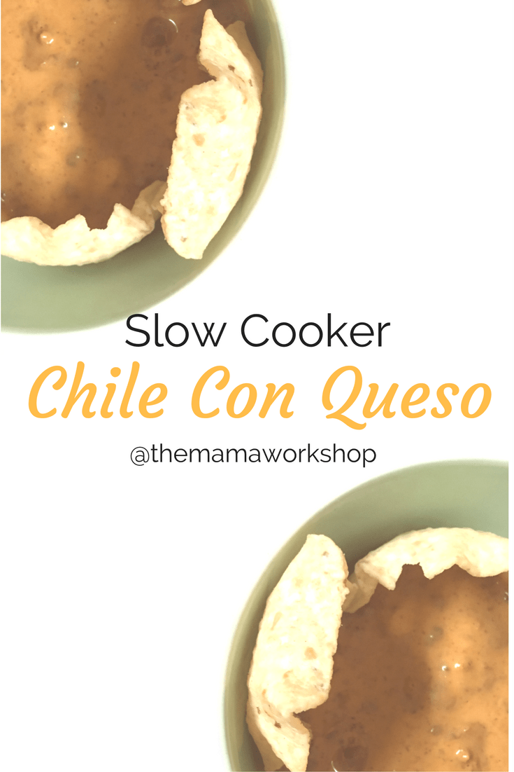 Slow Cooker Chile Con Queso