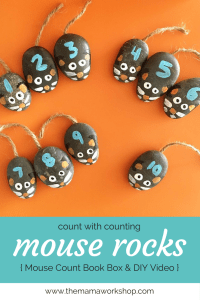 Count to 10 with Counting Mouse Rocks + DIY Video