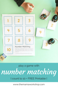 Number Matching Game {with FREE Printable}