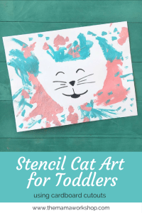 Stencil Cat Art for Toddlers
