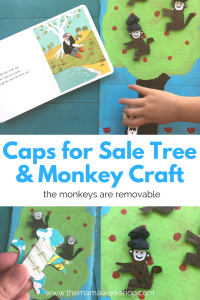 Cardboard Tree with Removable Monkeys Craft
