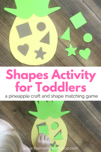 Toddler Shapes Activity (a Pineapple Game)