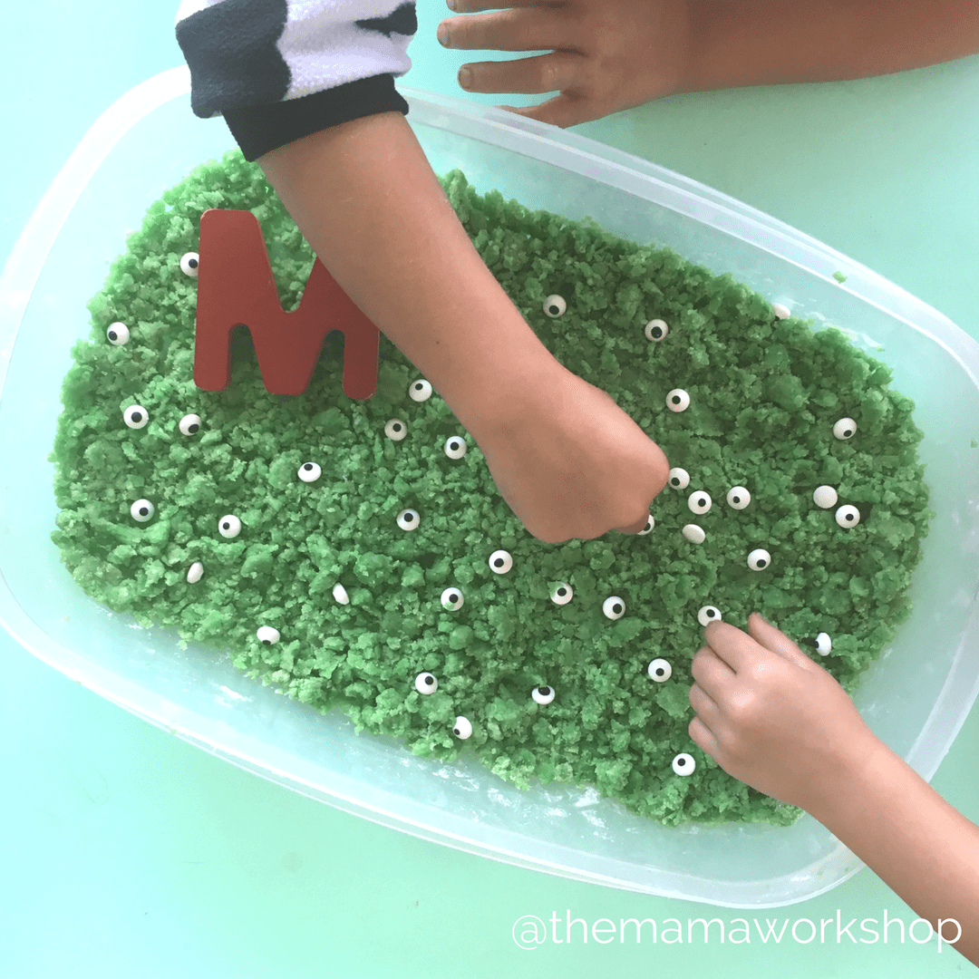 Monster Moon Sand - Sensory Bin