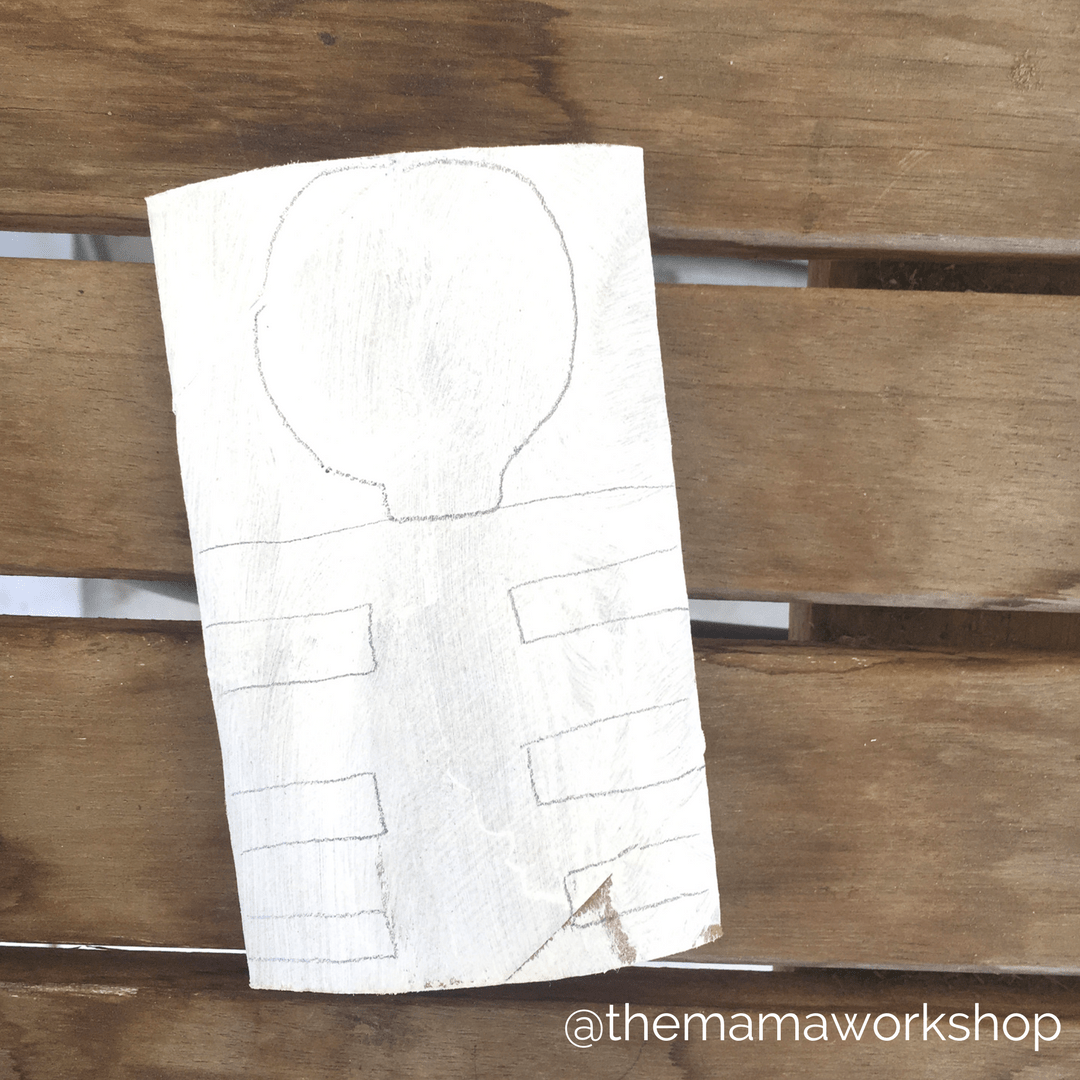 Outline Skeleton - Skeleton Craft for Toddlers