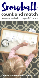 Snowball Counting with Number Cards Printable