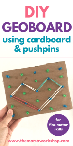 DIY Geoboard for Kids – Using Cardboard and Pushpins