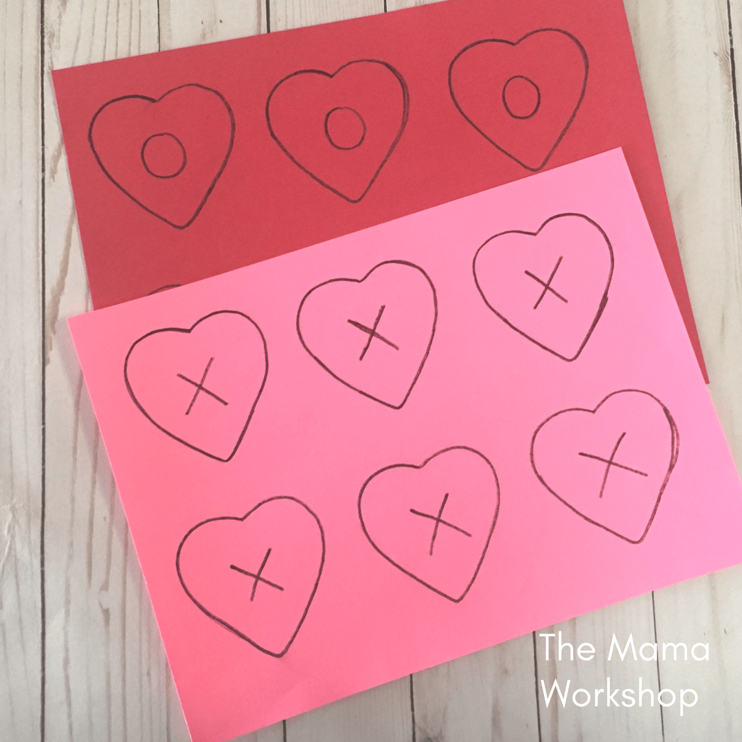 Valentine's Day Games for Toddlers - Trace Hearts
