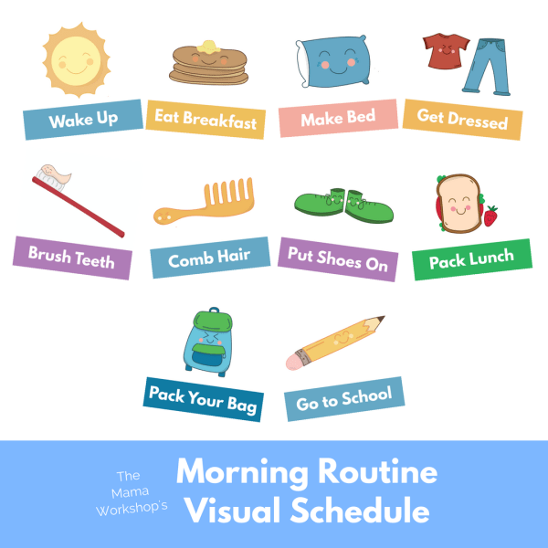 Use these Morning Routine Visual Schedule Cards to help your child stay on task in the morning. Includes 10 colorful and cheerful cards. Instant Download.