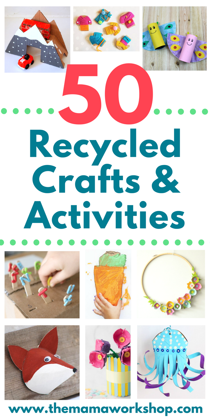 Recycled Materials Crafts For Preschoolers