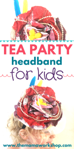 Tea Party Headband for Kids with Recycled Newspaper