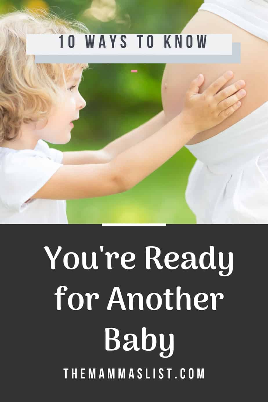 Am I Ready For A Baby : ready, Signs, You're, Ready, Second