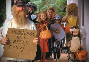 Fredericton residents happy to pass out candy to kids dressed as homeless people, just not real homeless people