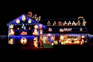 New Brunswickers celebrate start of holiday season by turning on Christmas lights they've left on house all year round