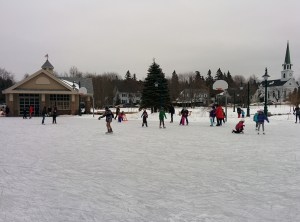 Families enjoy leisurely skate in Common 15 minutes before inaugural Rothesay Purge