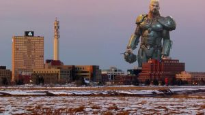 Life-sized Robert Maillet monument added to Moncton skyline