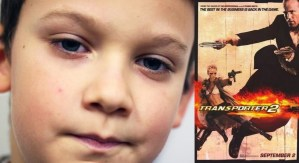 Boy watches 'Transporter 2' to set tone for new year
