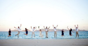 Incredible! Wedding photographer captures candid moment of entire bridal party jumping in air at once
