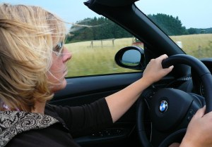 Driving mom starts talking to herself after all other family members put on headphones