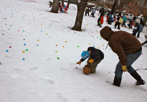 Gallant destroys local children at annual egg hunt
