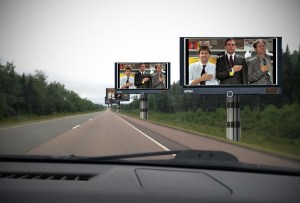 DoT putting up TVs showing 'The Office' along highway between Moncton, Fredericton