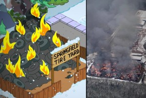 'The Simpsons' suing Minto over tire fire copyright infringement