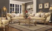 HD 2626 Homey Design upholstery living room set Victorian ...