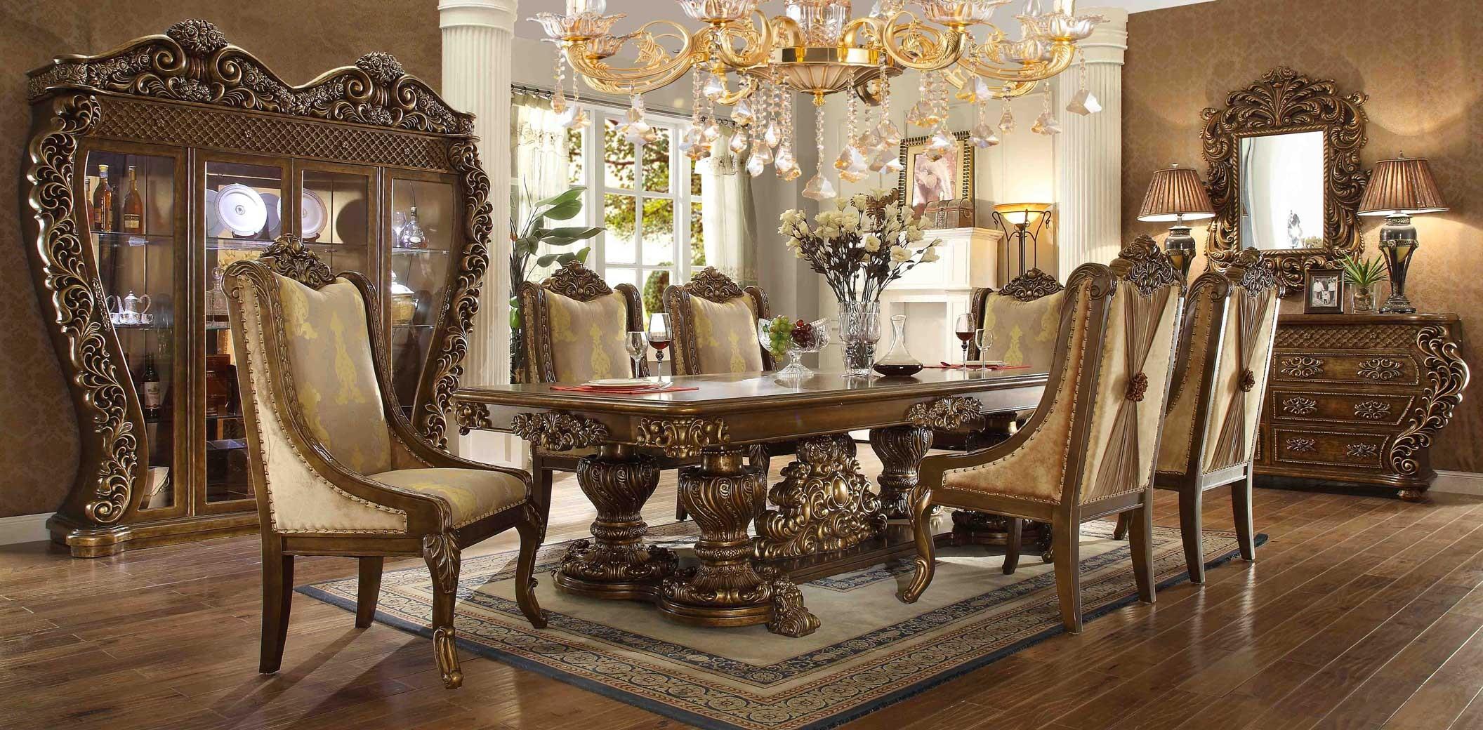 New England Fall Themed Wallpaper Hd 8011 Homey Design Dining Room Set Victorian European