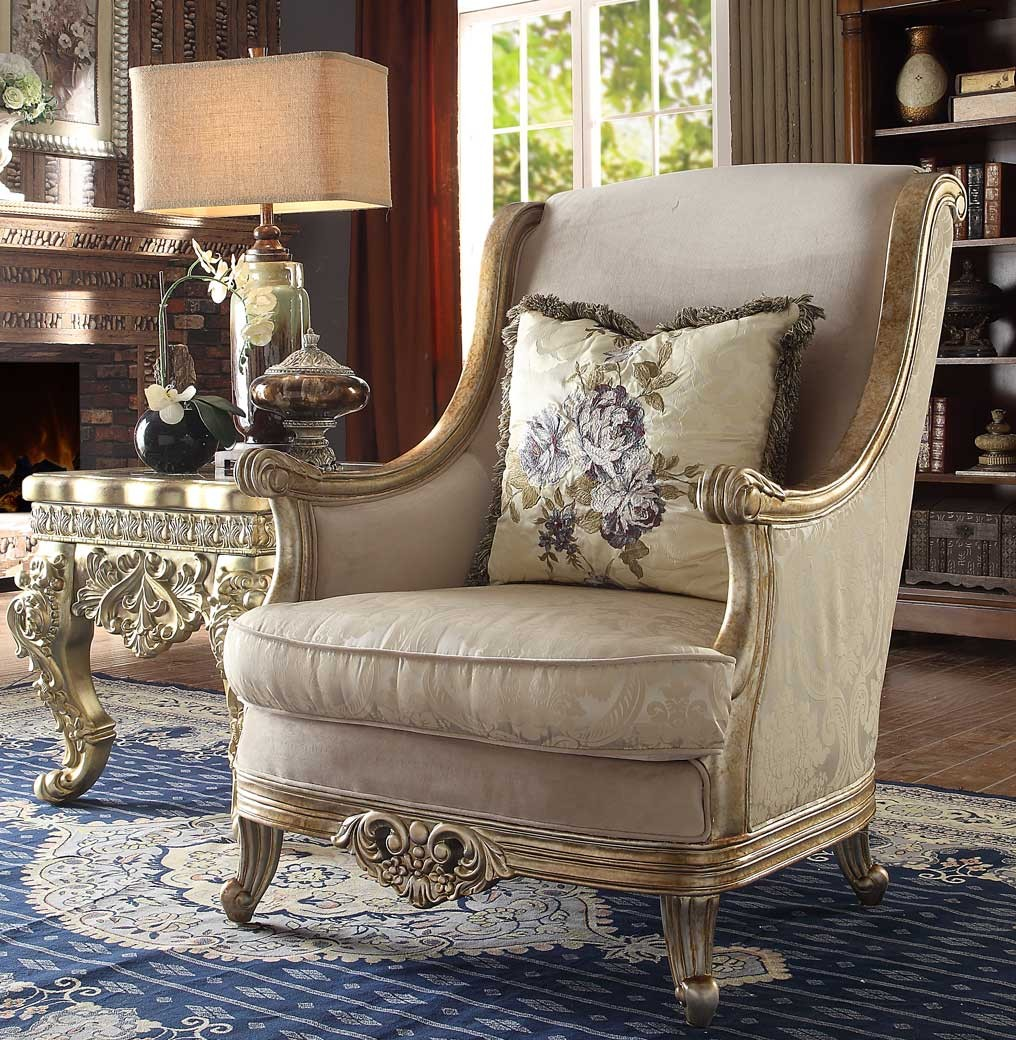 Upholstered Living Room Chairs Hd 04 Homey Design Upholstery Accent Chair Set Victorian European Classic Design
