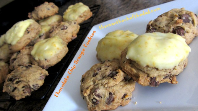 orange choc chip cookies