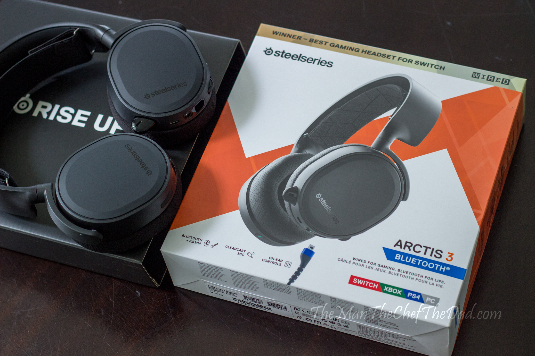 Review Steelseries Arctis 3 Bluetooth Headset Man Chef Dad